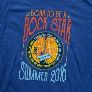 Born to be a rockstar Amp it up graphic T-shirt